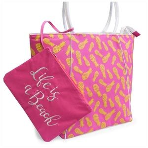 Pineapple Beach Tote with Wet Suit Bag